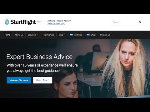 StartRight - A Fantastic Free Business WordPress Theme