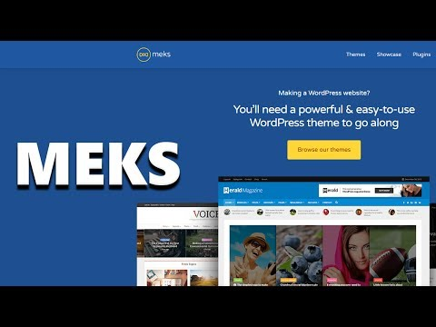 Meks WordPress Themes & Plugins - A Quick Look