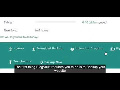 BlogVault Setup and overview
