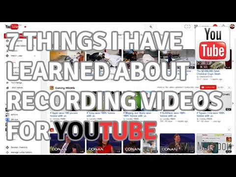 7 Things I Have Learned About Recording Videos for YouTube