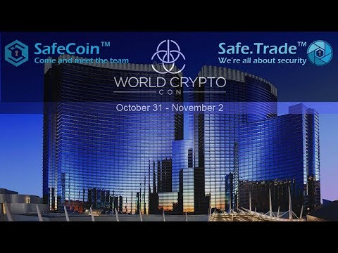 Join Me and the SafeCoin Team at World Crypto Con