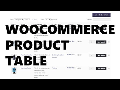 WooCommerce Product Table - A Fantastic WooCommerce Extension