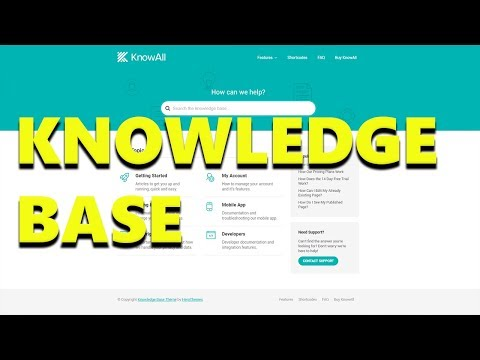 Reduce Support Queries with KnowAll Knowledge Base