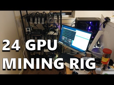 My 24 GPU Cryptocurrency Mining Rig